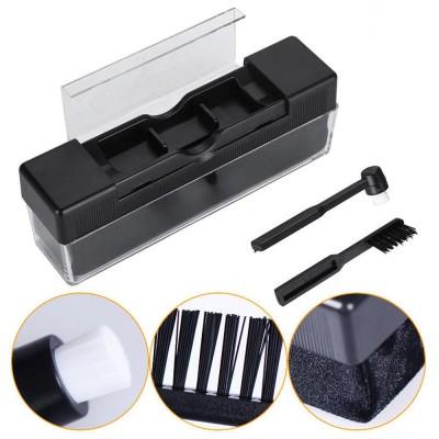 Čistící kartáček 3v1 na gramofonové desky a přenosku (OEM)