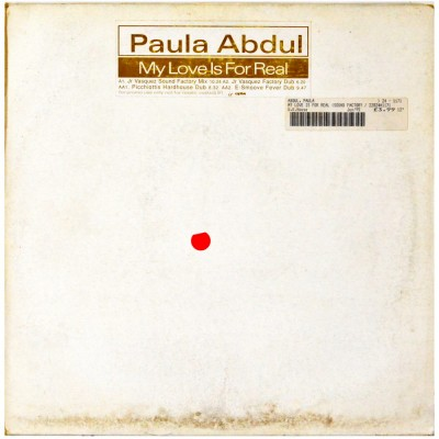 """PAULA ABDUL - My love is for real (12"""")"""